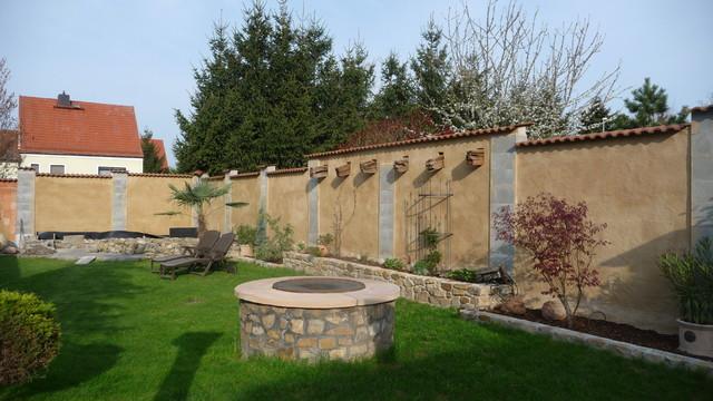 Emejing Gartenmauer Mediterran Verputzt Gallery House Design Ideas  Campuscinema Us