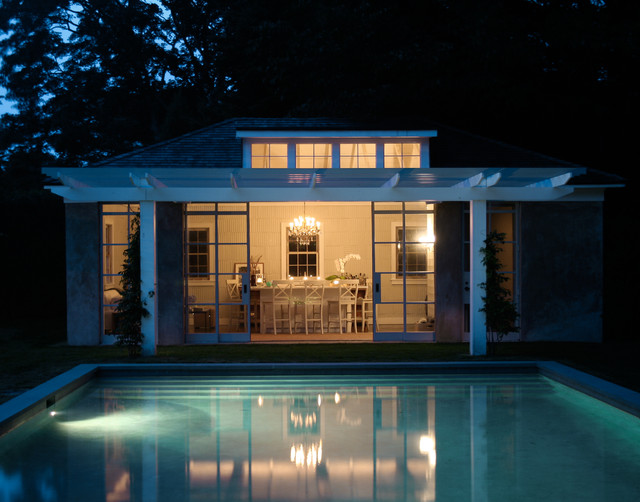 wicker chairs for sale gioteck rc5 gaming chair east hampton pool house - contemporary new york by wettling architects