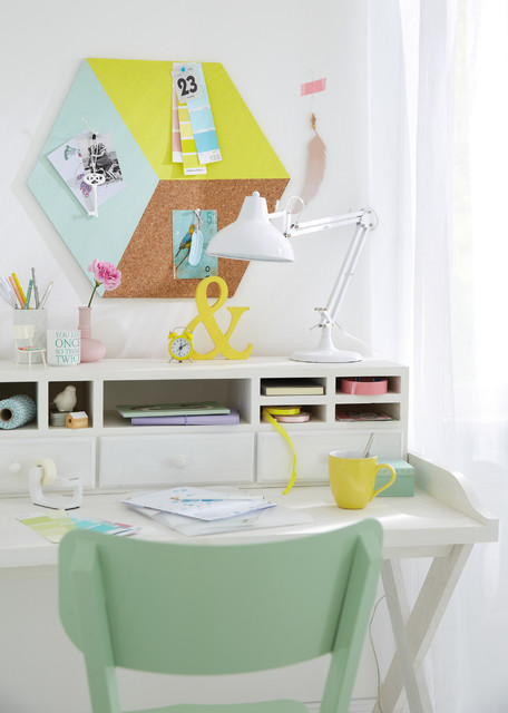 3D cork board cube contemporary-home-office