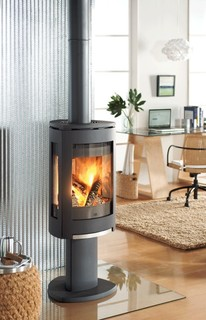 Jotul F370 Concept Wood Stove Contemporary Living Room