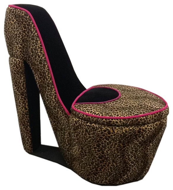 red heel chair sit to stand norms high and black cheetah eclectic armchairs