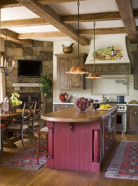 Buffehr Creek Residence rustic-kitchen