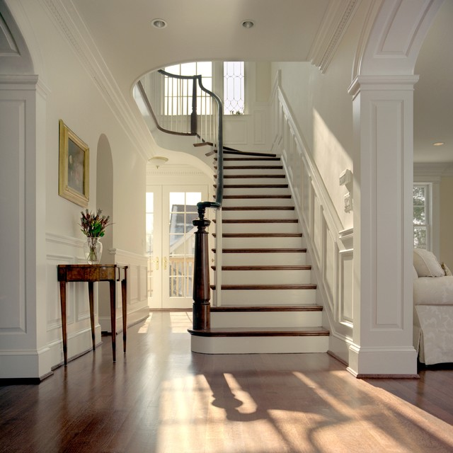 Award winning stairwell by Anthony Wilder Design/Build traditional-entry