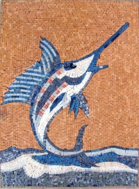 Sword Fish Mosaic Art - Beach Style - Tile Murals - by ...