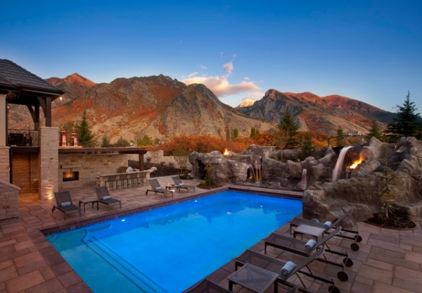 mountain paradise pool - modern