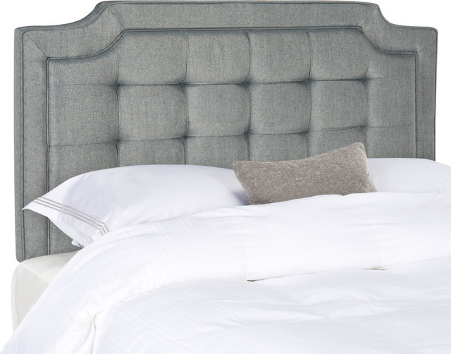 Safavieh Sapphire Tufted Linen Headboard, Gray
