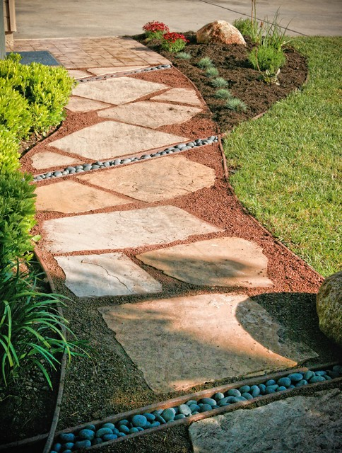 loose flagstone pathway - traditional