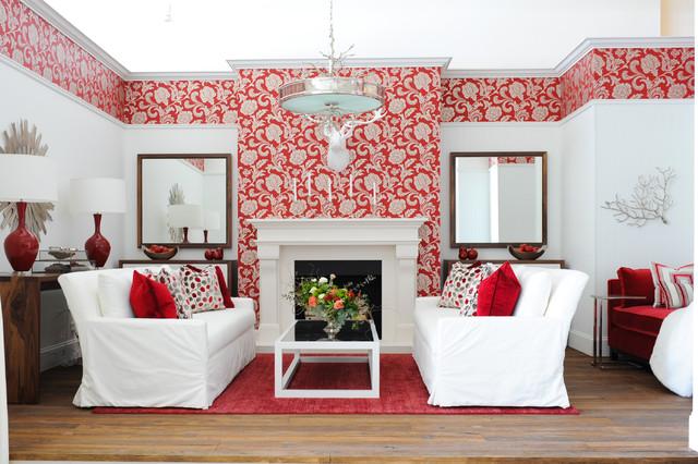 Luxury Winter Retreat traditional-living-room