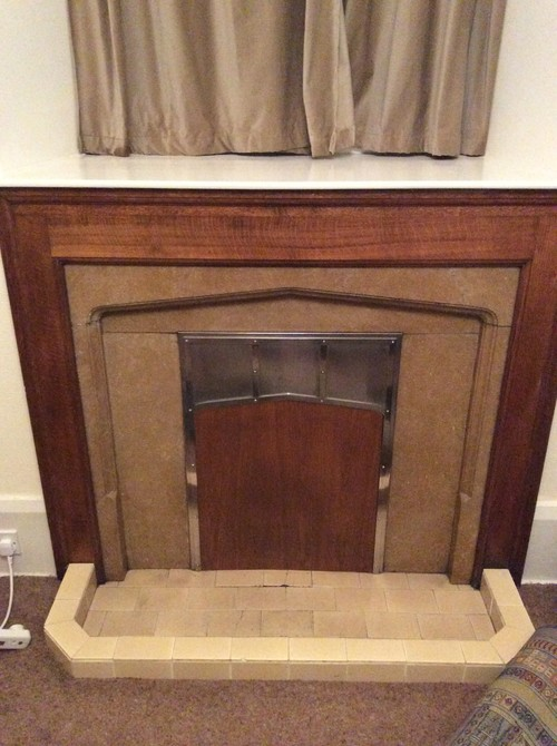 Hidden Tv Nook In Fireplace Shelving Unit Our Home Notebook