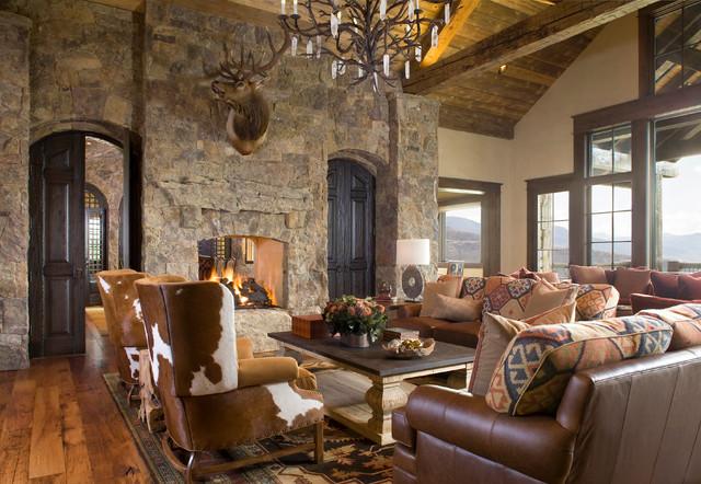 Colorado Ranch Home  Rustic  Living Room  Denver  by