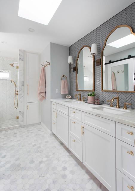 Marble Master Bathroom in San Diego  Transitional  Bathroom  San Diego  by Signature Designs