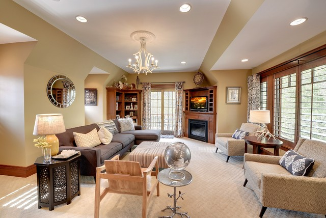 Tudor revival craftsman-family-room