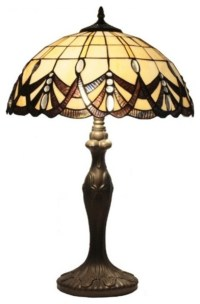 Large Size Tiffany Style Table Lamp - Midcentury - Table ...