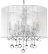 Crystal Chandelier, White