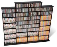 Prepac Quad Width CD DVD Media Storage Wall Unit in Black ...