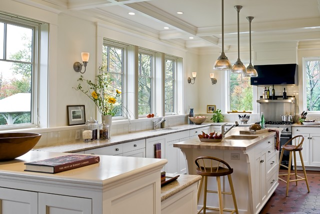 Shingle style home in Hanover NH victorian-kitchen