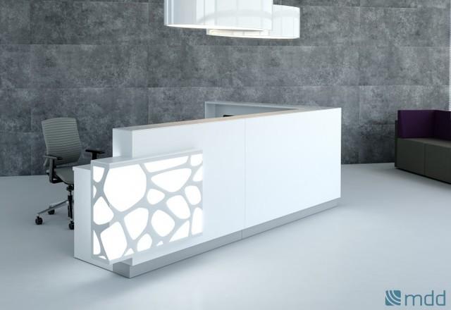 Organic Custom Reception Desk By MDD Office Furniture