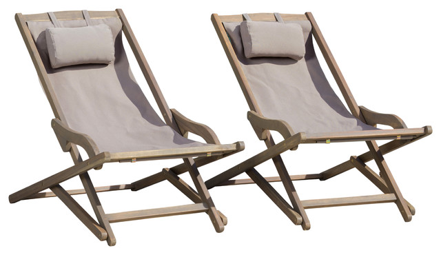 canvas sling chair wheelchair haven northland outdoor wood and chairs set of 2