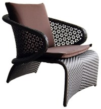 Brown Exotica Chair, Purple Cushion - Outdoor Cushions And ...