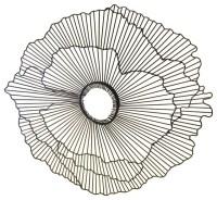 "Modern 21"" Wire Flower Wall Art, Contemporary Metal ..."