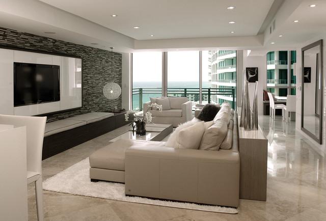 Diplomat Residence Modern Living Room Miami By