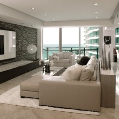 Beach House Decorating Ideas Living Room Best Wall Color For With Dark Furniture Diplomat Residence - Modern Miami By ...