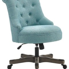 Blue Office Chair Wicker Side Rubberwood Metal Executive Transitional Chairs By Sinclair Gray Wash Wood Base Light