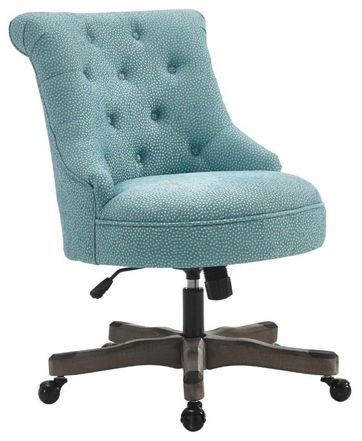 turquoise office chair game with speakers rubberwood metal executive transitional chairs by sinclair gray wash wood base light blue