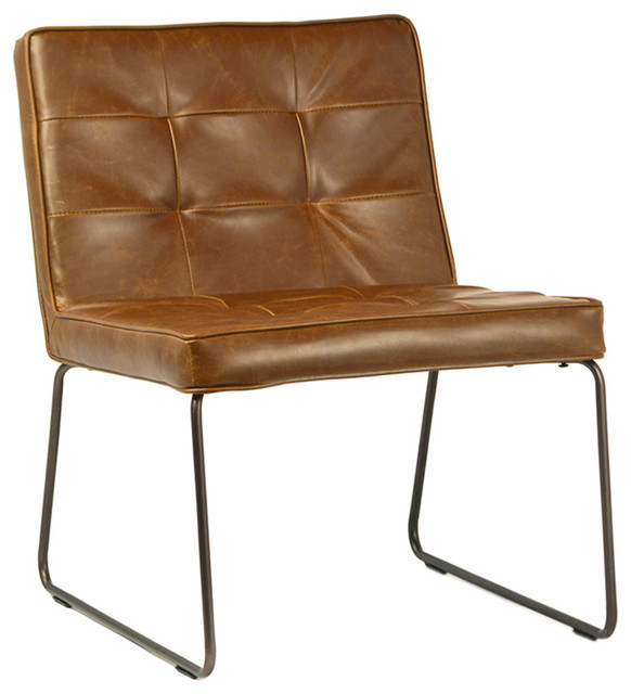 leather side chair jobek stand aged with metal frame industrial armchairs and accent chairs by design mix furniture
