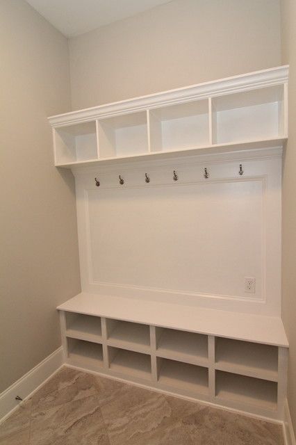 Drop Zone For The Mud Room Contemporary Raleigh By