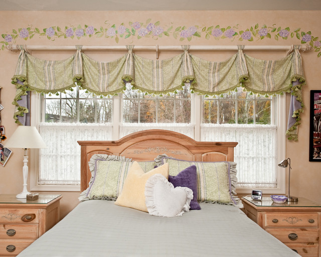 savannah valance by window works - traditional - bedroom - new