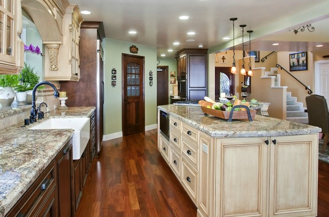 Kitchen Makeover With Terracotta Tiles And White Curtains