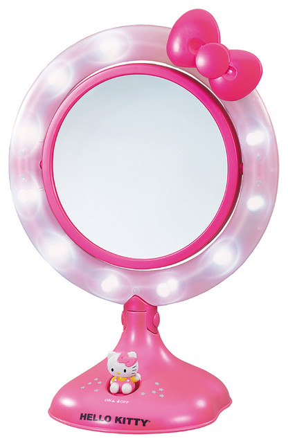 Hello Kitty Lighted Makeup Mirror  Contemporary  Kids