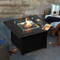 Napoleon Kensington Square Patioflame Gas Fire Pit Table ...