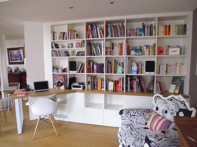 Bibliothque Sur Mesure Classique Bureau Domicile