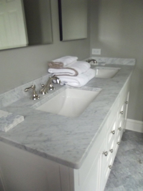 marble counter top - traditional - bathroom - new york - by