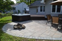Hot Tub Bullfrog Spas with Trex deck and Cambridge paver ...