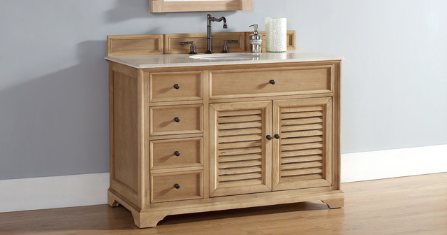 Unfinished Solid Wood Bathroom Vanities From James Martin Furniture  HomeThangs  Traditional