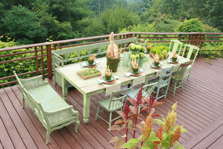 Gardens and Terrace rustic-deck