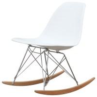 Molded Plastic Rocker Side Chair, White - Midcentury ...