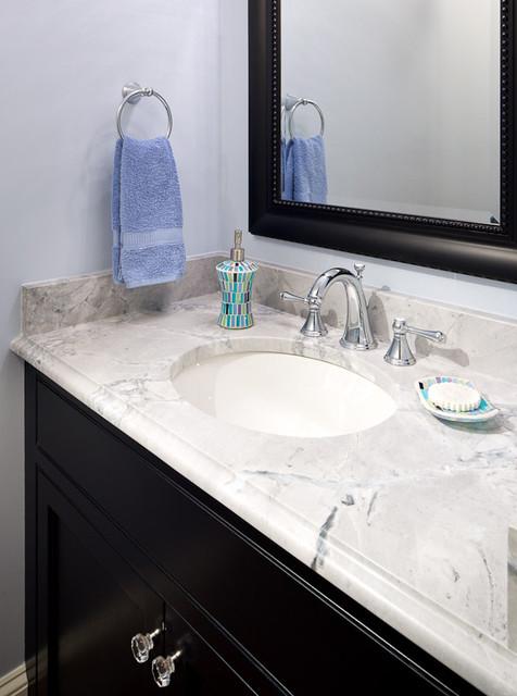 Super White Quartzite Vanity  Modern  Bathroom  boston