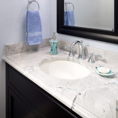 Kitchen And Bath Showrooms Touch Faucets Super White Quartzite Vanity - Modern Bathroom Boston