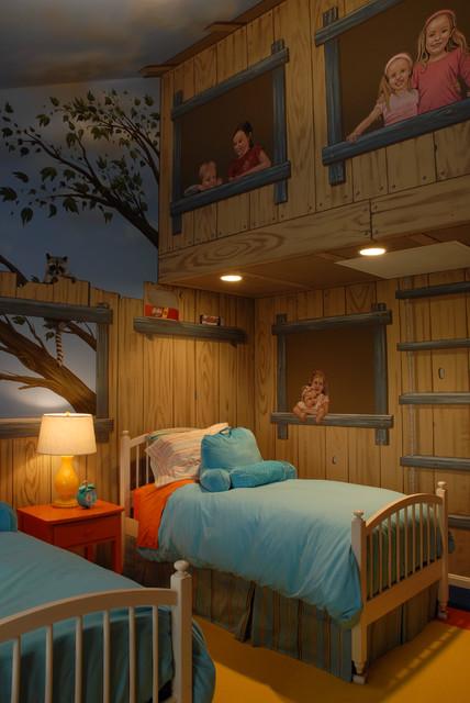 Tree House Bedroom  Eclectic  Kids  Minneapolis  by Gabberts Design Studio