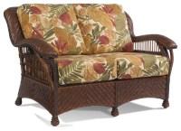 Casablanca Wicker Rattan Loveseat - Tropical - Furniture ...
