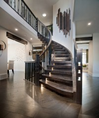 Stacked Blocks Style Curved Stair - Contemporary ...