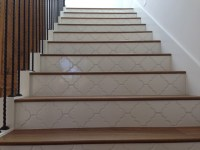 Landmark Mohave Wood Stairs with Tile Risers