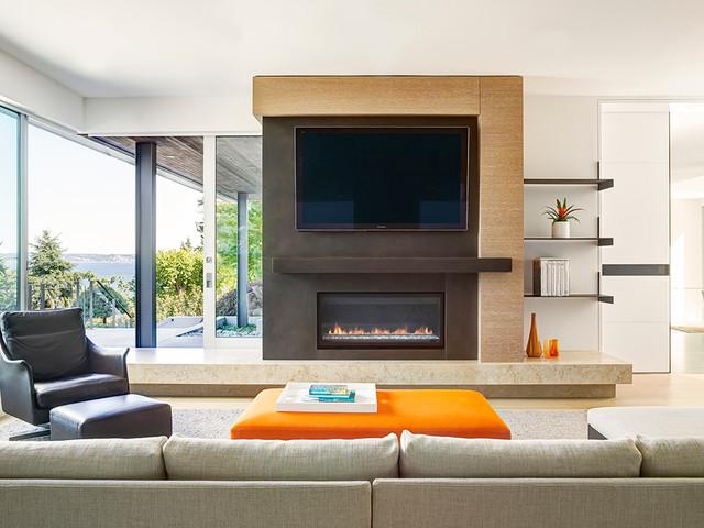 Mercer Island Residence Contemporary Family Room