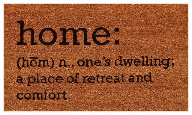 Home Definition Doormat  Contemporary  Doormats  by