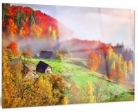 """Colorful Mountain Village"" Landscape Photo Metal Wall Art ..."