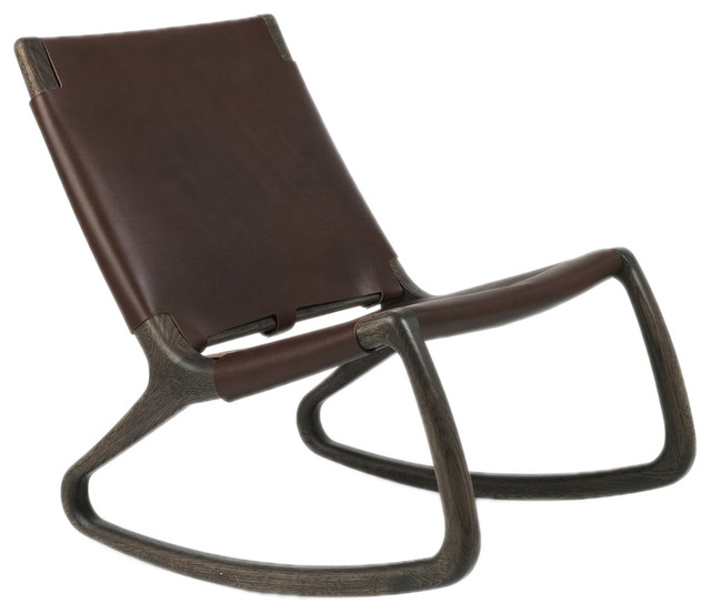 danish modern rocking chair tell city company mater leather midcentury chairs by plush pod decor